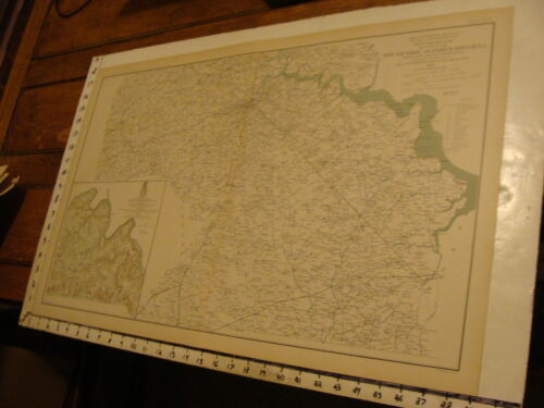 1890's Vintage CIVIL WAR MAP: preliminary map of SOUTH SIDE OF JAMES RIVER VA.Maps & Atlases - 156381