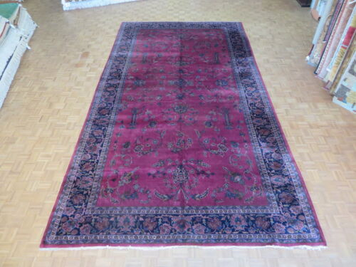 9'10 X 18 Hand Knotted Red Antique Lilahan Oriental Rug G1928
