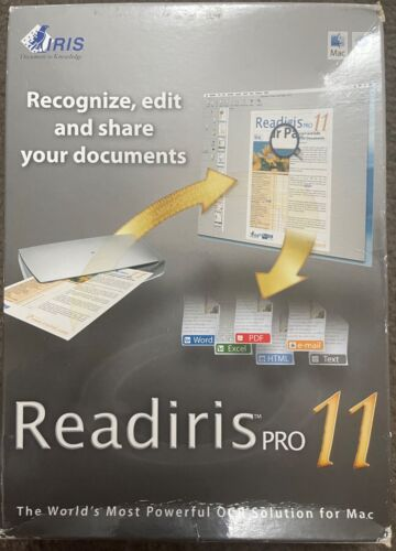 NEW IRIS Readiris Pro 11 for Mac - OCR Document to Text Recognition