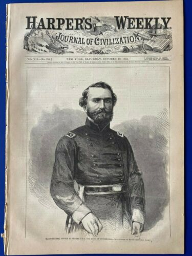 Harper's Weekly 10-10-1863 CHICAMAUGA Siege of Charleston CENTERFOLD by Th. NASTNewspapers - 103997