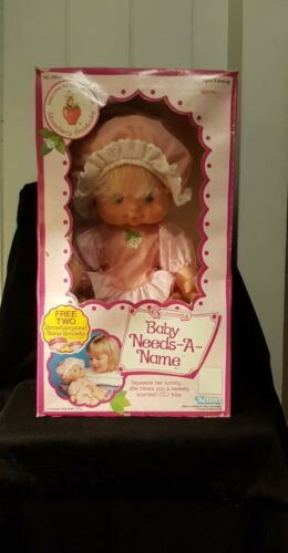Vintage Strawberry Shortcake Blow a Kiss Doll - Baby Needs-A-Name