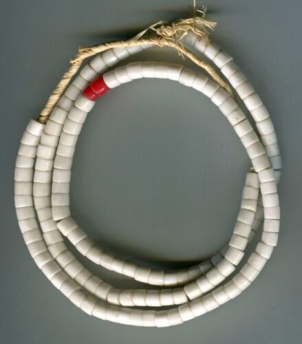African Trade beads Vintage Czech Bohemian old white glass Masai beads