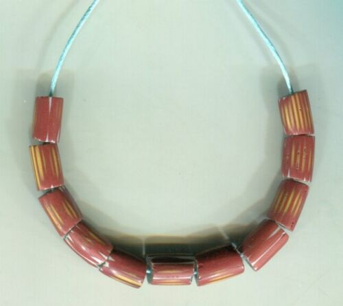 African Trade beads Vintage Venetian old glass rare 3 layer chevrons