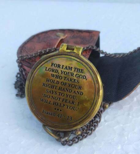 """Brass Personalized """" for I AM The Lord, Camping Compass Engraved with Gift"""