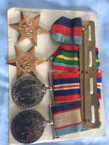 ww2 Australian War Medals With Name Tags For Sale1939 - 1945 (WWII) - 13977