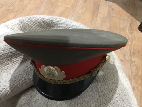 Rare old Soviet Military Officer Police Hat  size 53Surplus - 36075