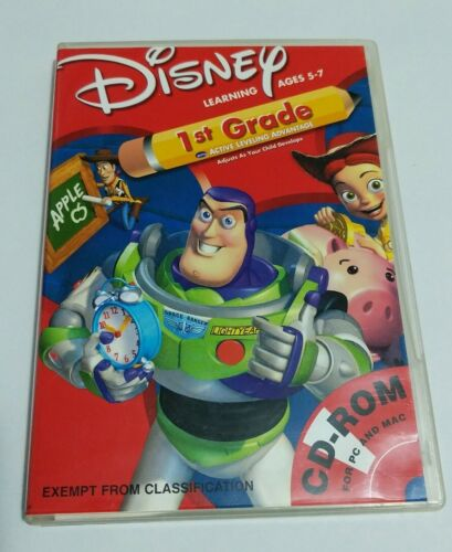 Disney Learning Ages 5-7 1st Grade Activity CD-ROM For PC&MAC