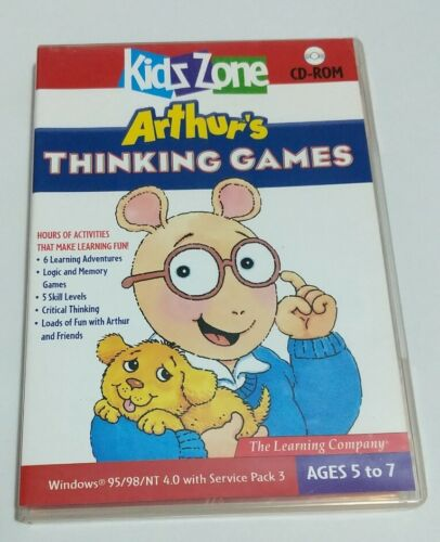 Arthur's Thinking Games PC CD-ROM The Learning Company -