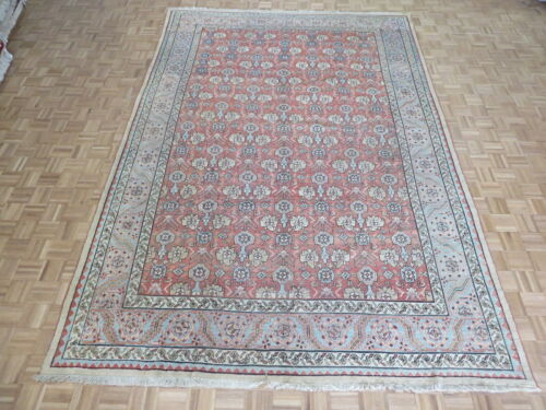 9 x 13 Hand Knotted Antique Fine Mahal Oriental Rug G10989