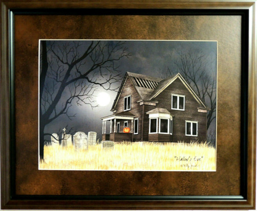 """COUNTRY HOUSE PICTURE """"HALLOW'S EVE"""" BILLY JACOBS  MATTED FRAMED 16X20"""
