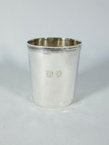 Antique French Early 19th Century Strasbourg Sterling Silver Beaker Cup France