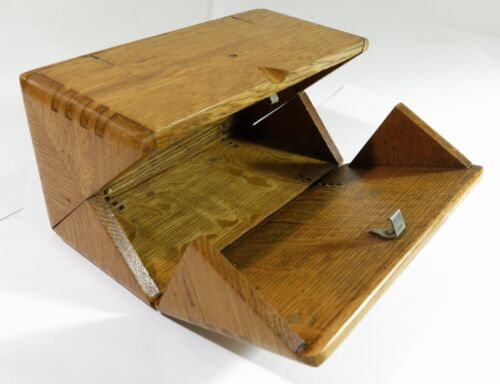 Refinished Solid Oak 1889 Accessory Puzzle Box—Singer Sewing Machine