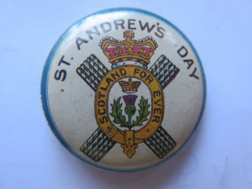 WORLD WAR I TINNIE or BADGE ST ANDREWS DAY c1918 EXCELLENT CONDITION