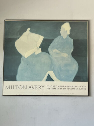 MILTON AVERY VINTAGE MODERN EXHIBITION LITHOGRAPH POSTER 1982 WHITNEY MUSEUM