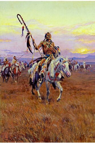 12x18 Native American Indian Medicine Man Oil Painting Real Canvas Art Print