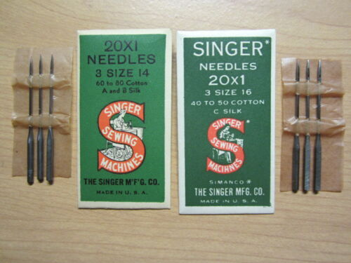 20x1 Sewing Machine Needles for White, National, New Home VS, sz 14 & 16