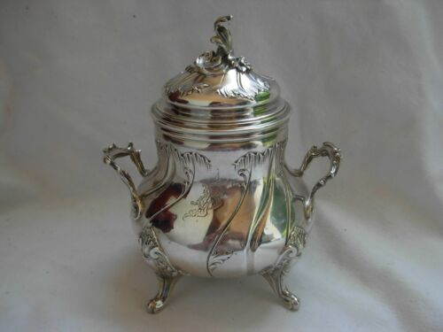 ANTIQUE FRENCH STERLING SILVER SUGAR BOWL,LOUIS 15 STYLE19th CENTURY