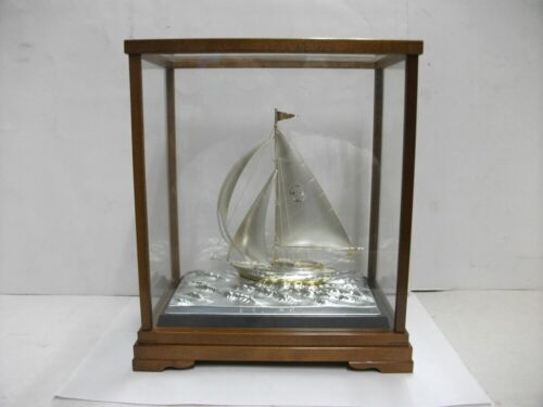 The sailboat of 970Sterling Silver of Japan. #79g/ 2.78oz. Japanese antique