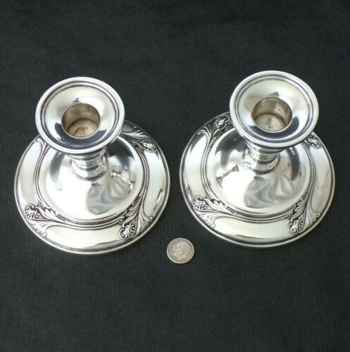 Pair of INTERNATIONAL Sterling Silver SPRING GLORY Candle Sticks Holder