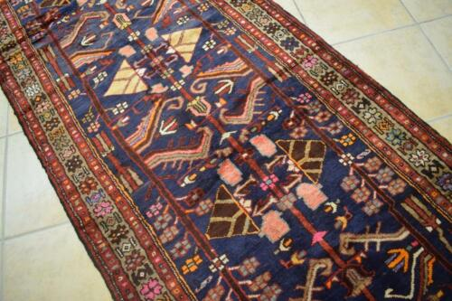 3'7 x 9'10 Superb S Antique Hand Knotted Oriental Wool Runner Nomad Rug 4 x 10