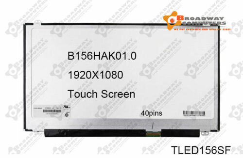 """15.6"""" 40pin FHD TOUCH SCREEN B156HAK01.0 LP156WF7 SP A1 SP C1 DELL 15-7545 5567"""