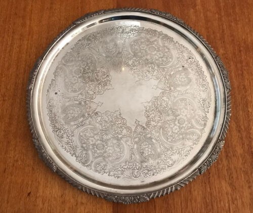 Vintage STRACHAN Huge Silver Plate Tray