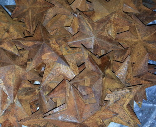 """Rusty 2.25"""" (2-1/4"""") Country Stars, 3D, Rusted, Hang Hole Star, Lot of 100"""