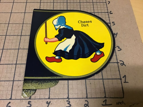 Vintage Original - DUTCH CLEANSER - chases dirt - decal - usued 1930's or so #1
