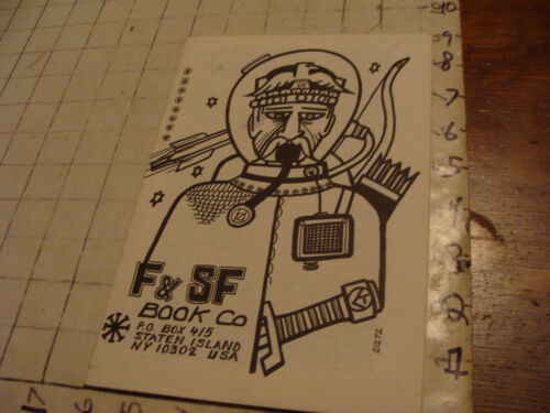 vintage Original F & SF Book co. NY, book catalog 2/1972, 16 pages,