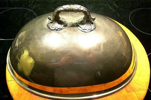 Antique Silver Plated Meat Dome Cover - possibly Georgian.
