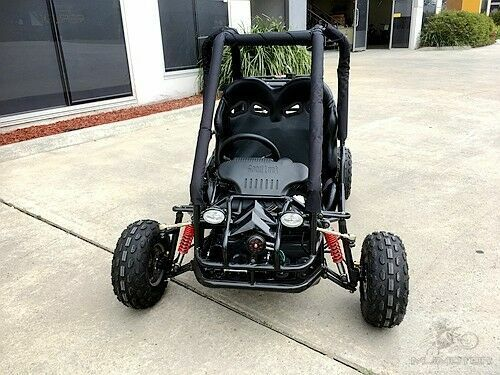 90cc Offroad Dune Buggy Quad ATV Teen Twin Seat Gokart Kids  Under 1.50m BLACK <br/> Remote Control Right Hand Drive 3 forward+reverse