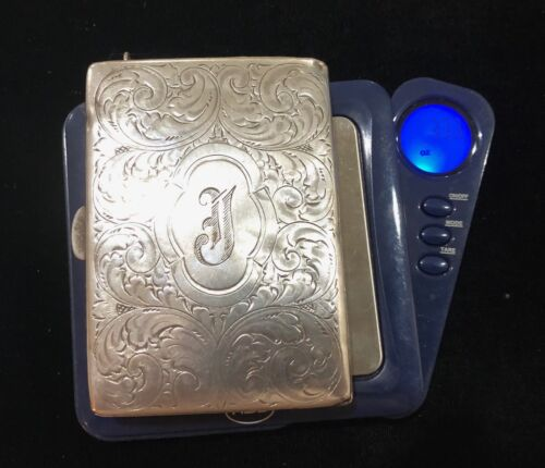 STERLING SILVER COIN PURSE CASE 1900's ERA CHANGE & FULL 1923 LARGE NOTE