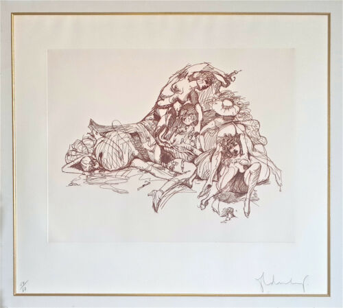 CLAES OLDENBURG -- A 1975 SIGNED, EROTIC, LARGE ETCHING, SMALL EDITION, POP ART <br/> NEW ACQUISITION - SUPERB !! NUMBERED EDITION #24 of 60