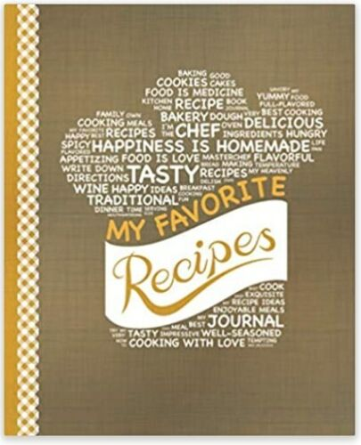 My Favorite Recipes: Blank Recipe Book to Write In   Paperback   Free Shipping