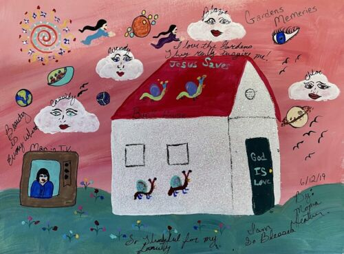 Howard Finster's Granddaughter, Heather's Painting Of The Bunk House