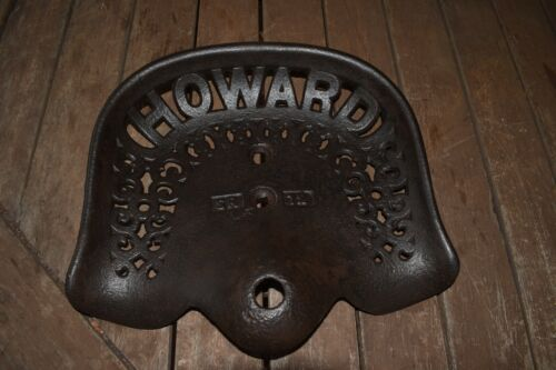 Antique Howard Tractor Seat.