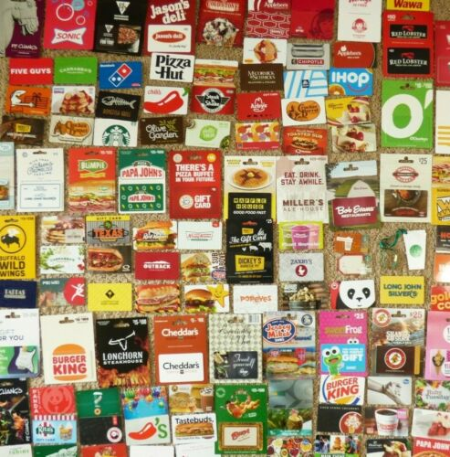 Gift Card LOT of 112 Different Food & Restaurant Only -No Value - Each Pictured