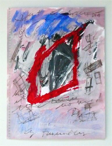 CY TWOMBLY - 1999 ORIGINAL ABSTRACT IMPASTO GOUACHE PAINTING, HISTORY, ON SALE