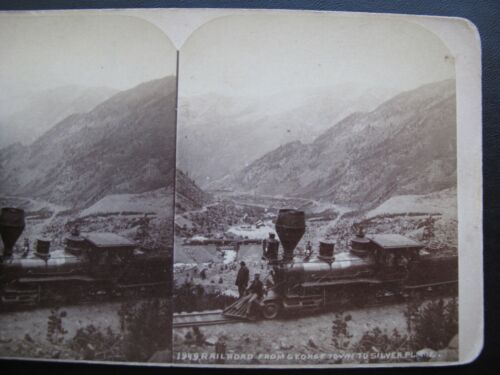 1883 Colorado & Southern Railroad, Georgetown to Silver Plume StereoView Card
