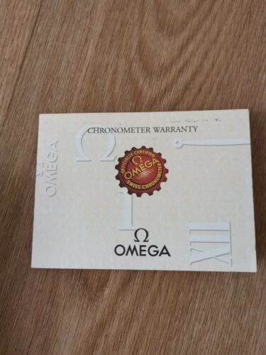 Omega seamaster Officially certified Swiss chronometer warranty