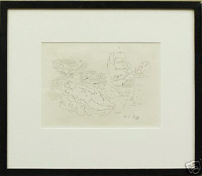 RAOUL DUFY ETCHING BAIGNEUSE FAUVISM ARCHES WATERMARK