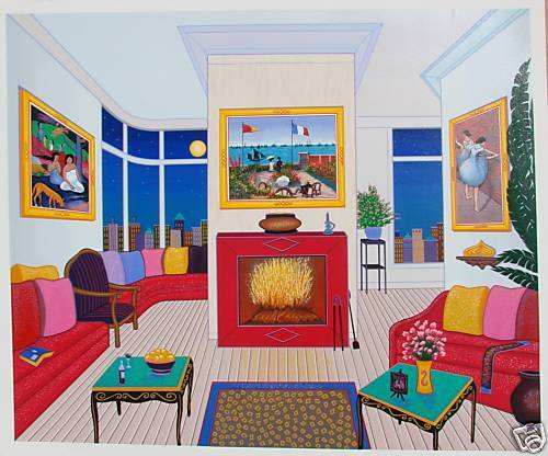 """""""Interior with 3 Masterpiece""""  by Fanch Ledan"""