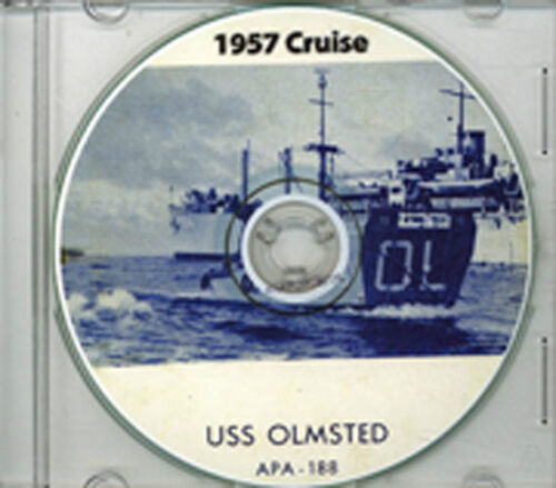 USS Olmsted APA 188 1957 Med Cruise Book on CD RAREReproductions - 156443