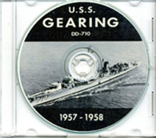 USS Gearing DD 710 1957 - 1958 CRUISE BOOK CD US NavyReproductions - 156443