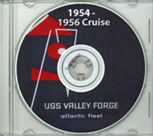 USS Valley Forge CVS 45 1954 - 56 Cruise Book CD RAREReproductions - 156443