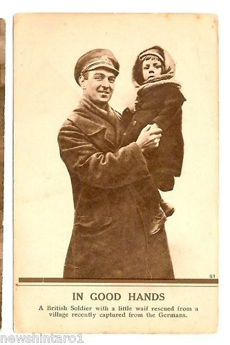 WWI MILITAY POSTCARD - SOLDIER RESCUES CHILD1914 - 1918 (WWI) - 13962