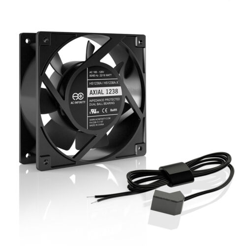 TANNING BED PART : 110V / 115V / 120V AC Axial Muffin Cooling Fan (HS1238A-W)