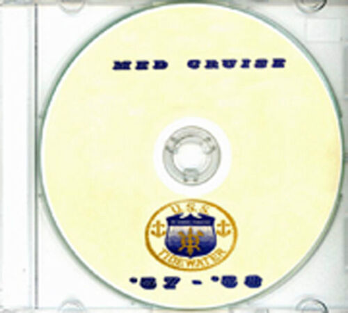 USS Tidewater AD 31 1957 1958 Med Cruise Book CD RAREReproductions - 156443