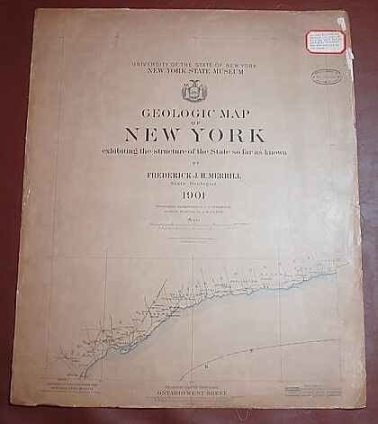 1901 GEOLOGIC MAP OF NEW YORK/Frederick Merrill/12 MAPS