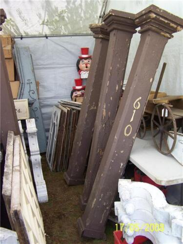 set4 victorian gingerbread SQUARE porch column posts 6'
